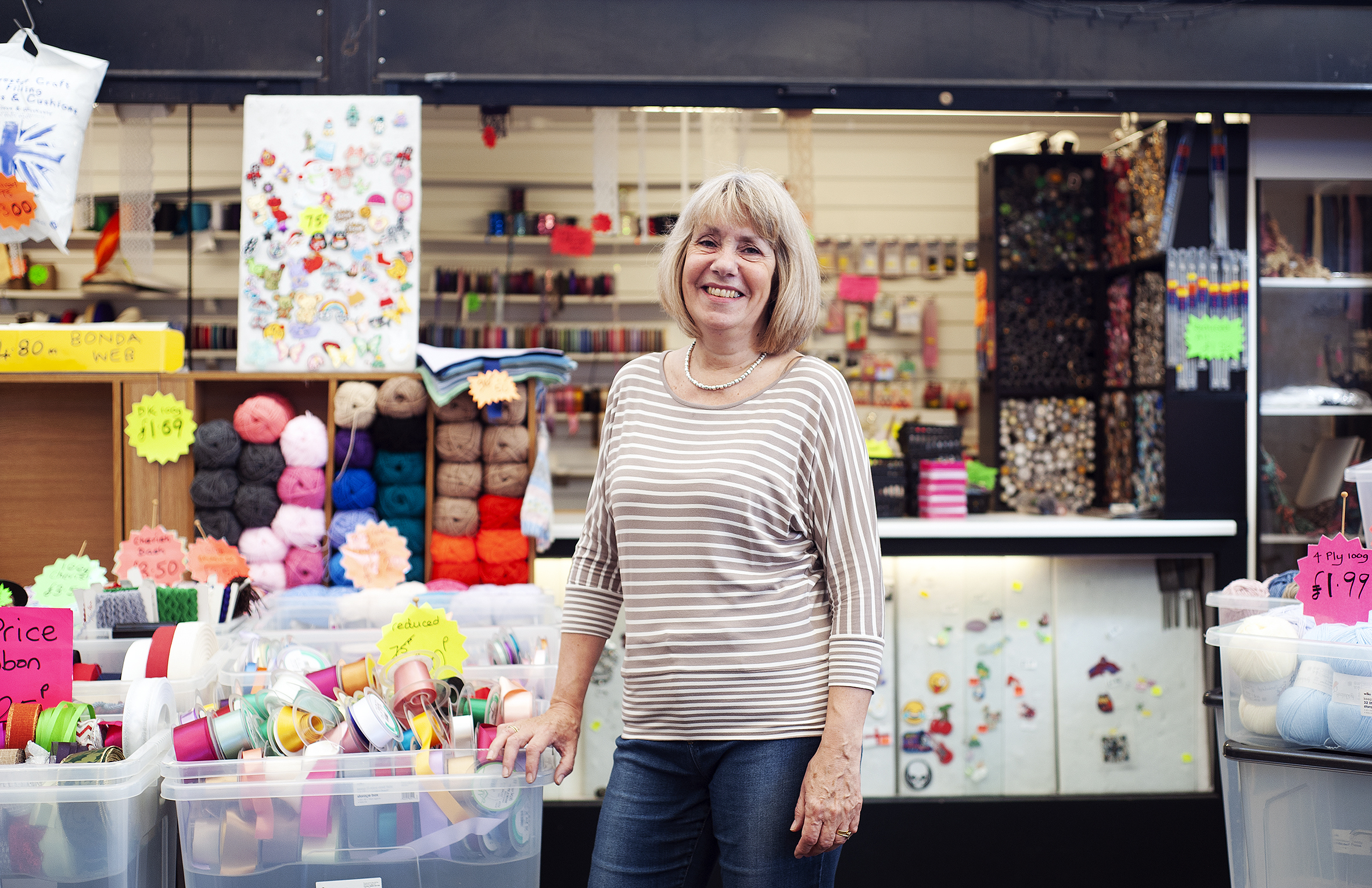 Lynne Lawrence spent 44 happy years working at the market stall