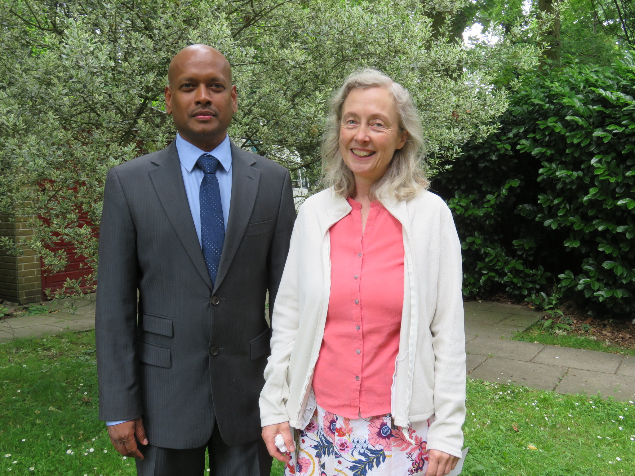 Amanda Powell with Enoch Kanageraj