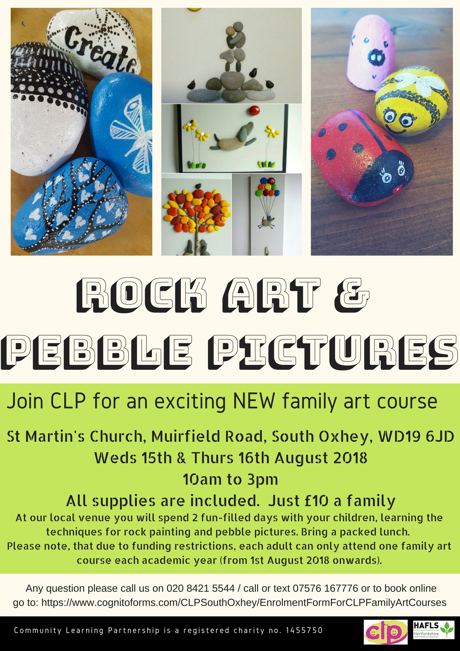 Rock Painting & Pebble Art Pictures - Holiday Family Art Sessions