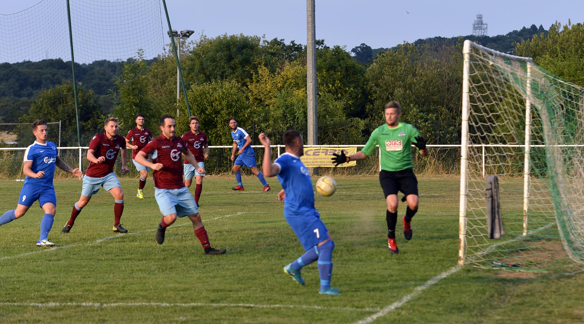 Oxhey Jets lost 4-0 at the weekend but were back on song in mid-week. Picture: Len Kerswill