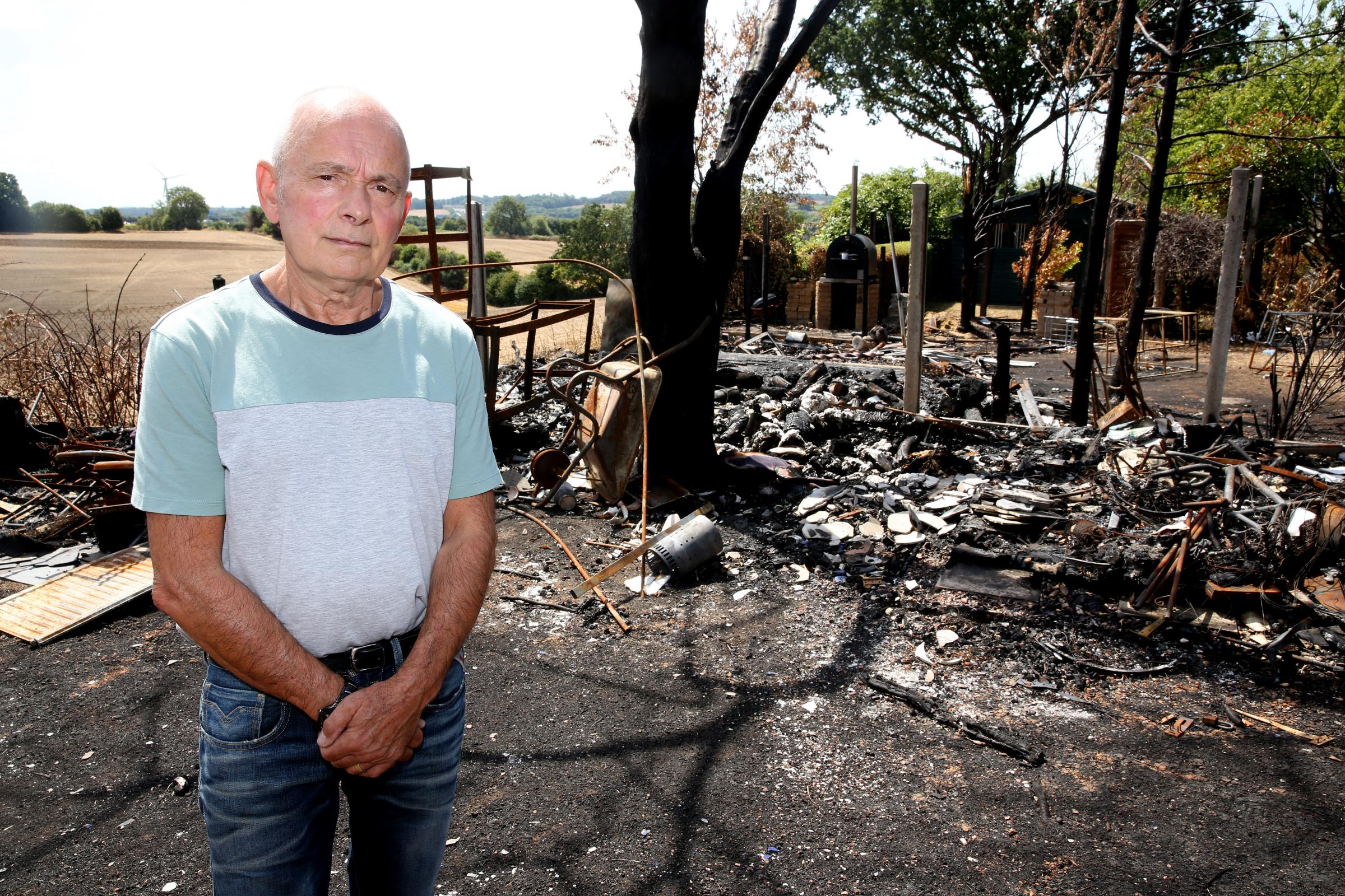 Fire engulfs family property while they watch on social media