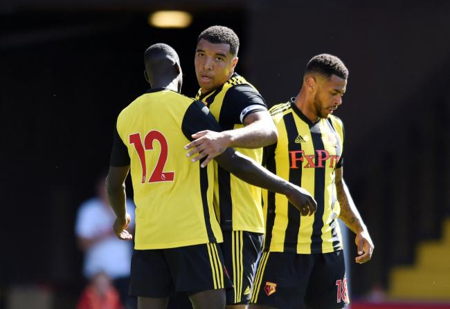 Troy Deeney celebrates his goal. Picture: Action Images