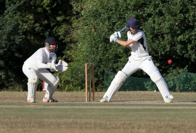 Eyes on the ball: Kings Langley (229-10) suffered a narrow defeat to Broxbourne (236-8) in Division One. Picture: Len Kerswill