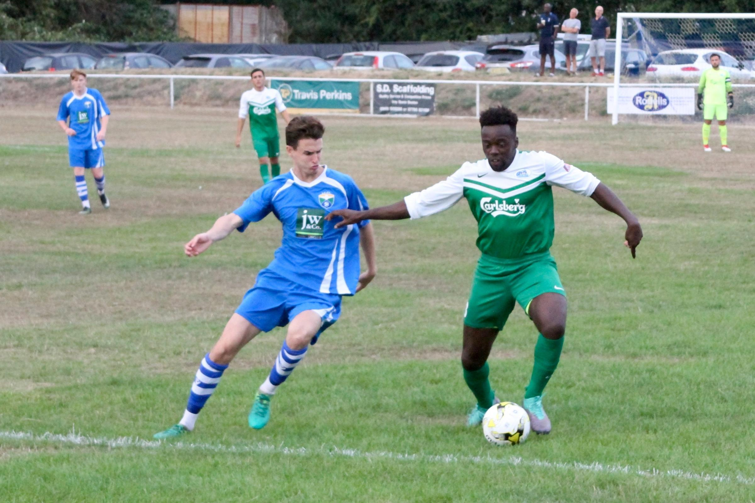 Rak-su's Ashley Fongho was in the Oxhey Jets side on Tuesday night. Picture: John Elliott