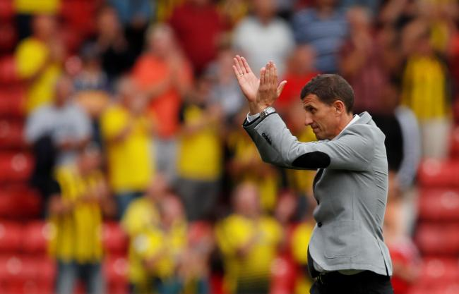 Javi Gracia against Brighton last season. Picture: Action Images