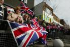 Thousands of Union Flags filled Watford High Street, to welcome The Poachers home from Iraq.