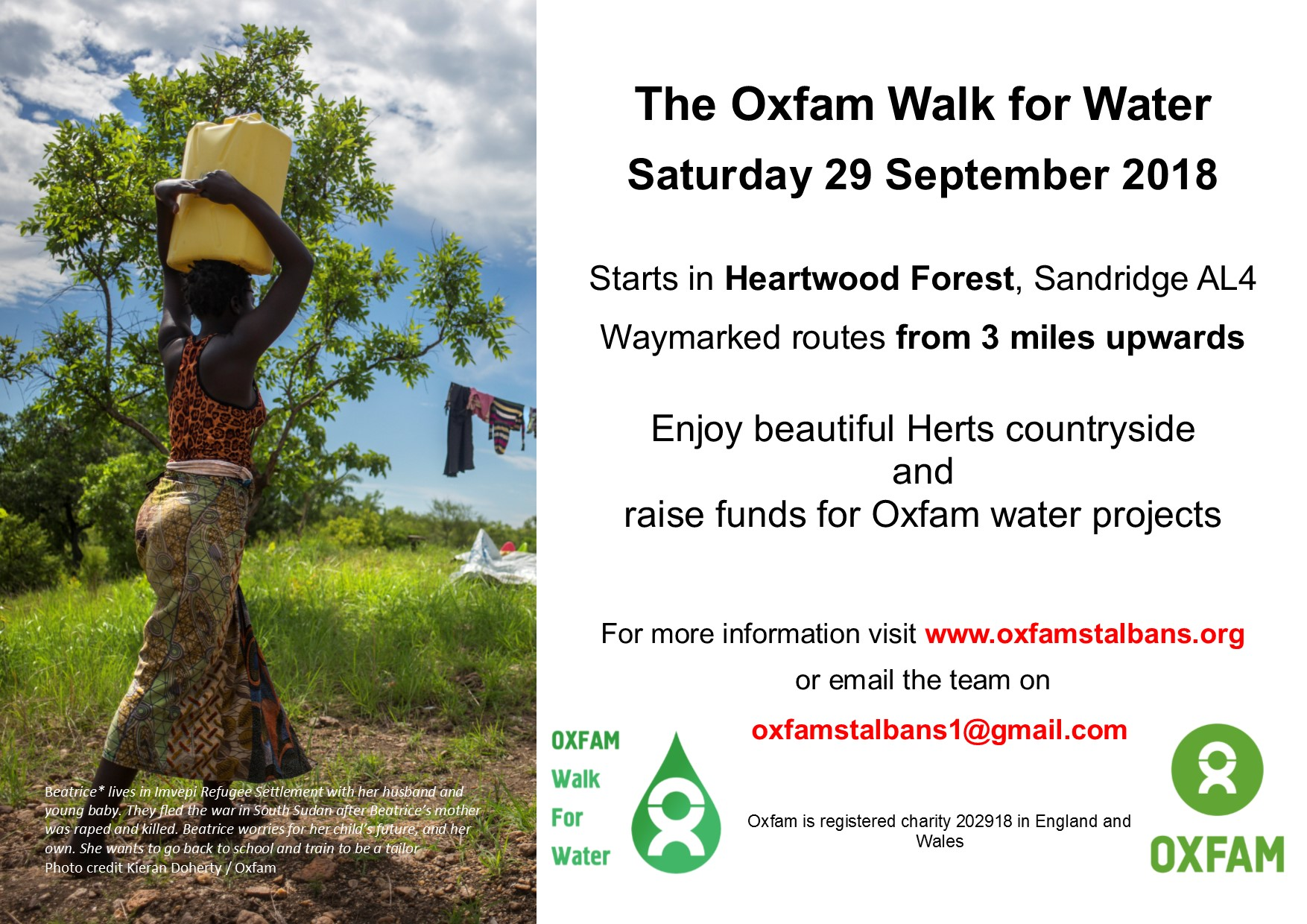The Oxfam Walk for Water