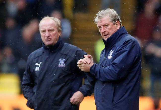 Roy Hodgson on the sidelines with his assistant and former Hornets boss Ray Lewington. Picture: Action Images