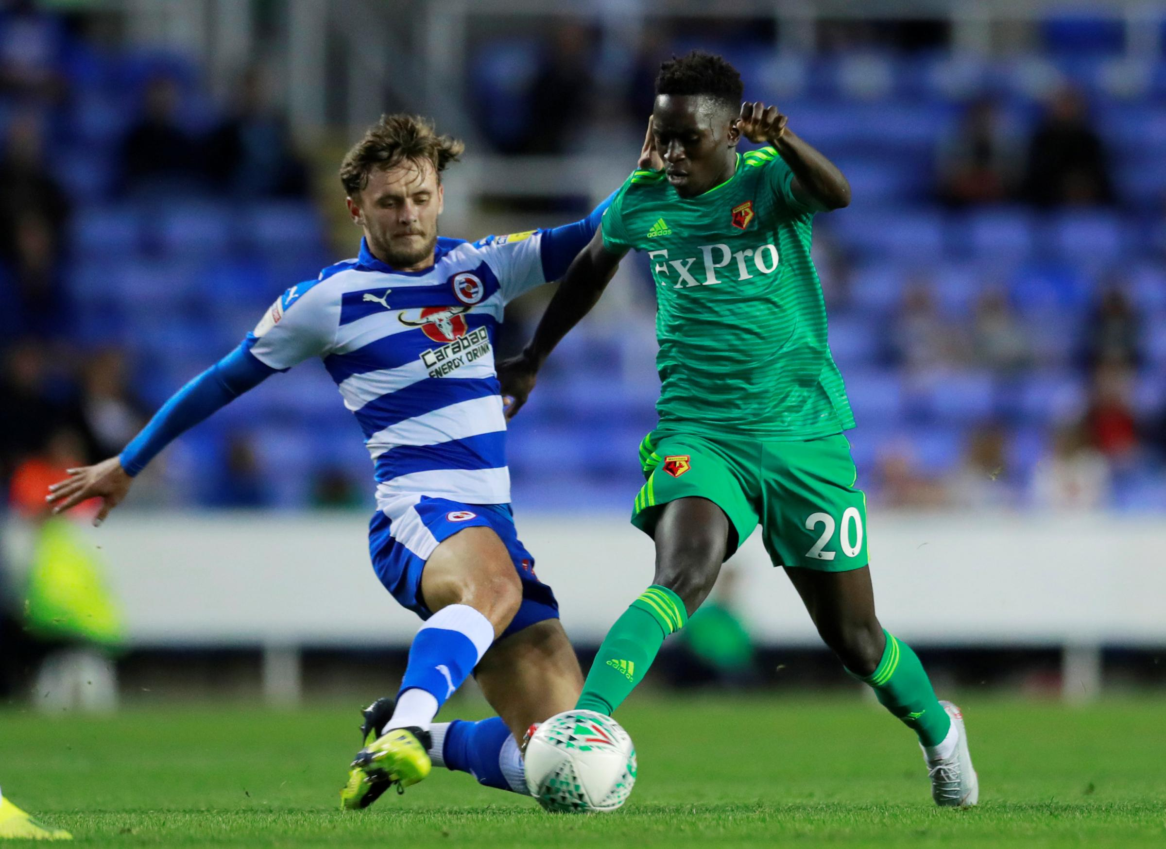 Domingos Quina carries the ball forward against Reading. Pictures: Action Images