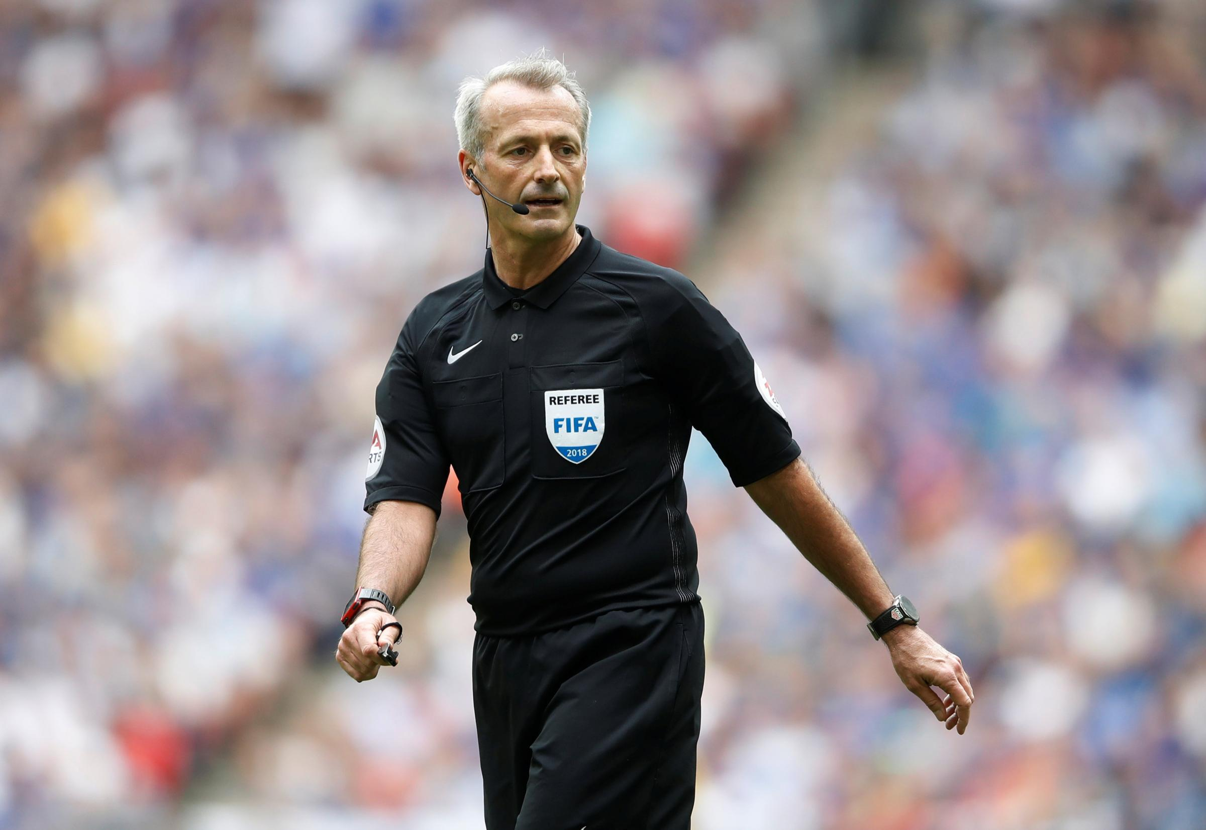 Martin Atkinson will referee Watford for the first time this season on Saturday. Picture: Action Images