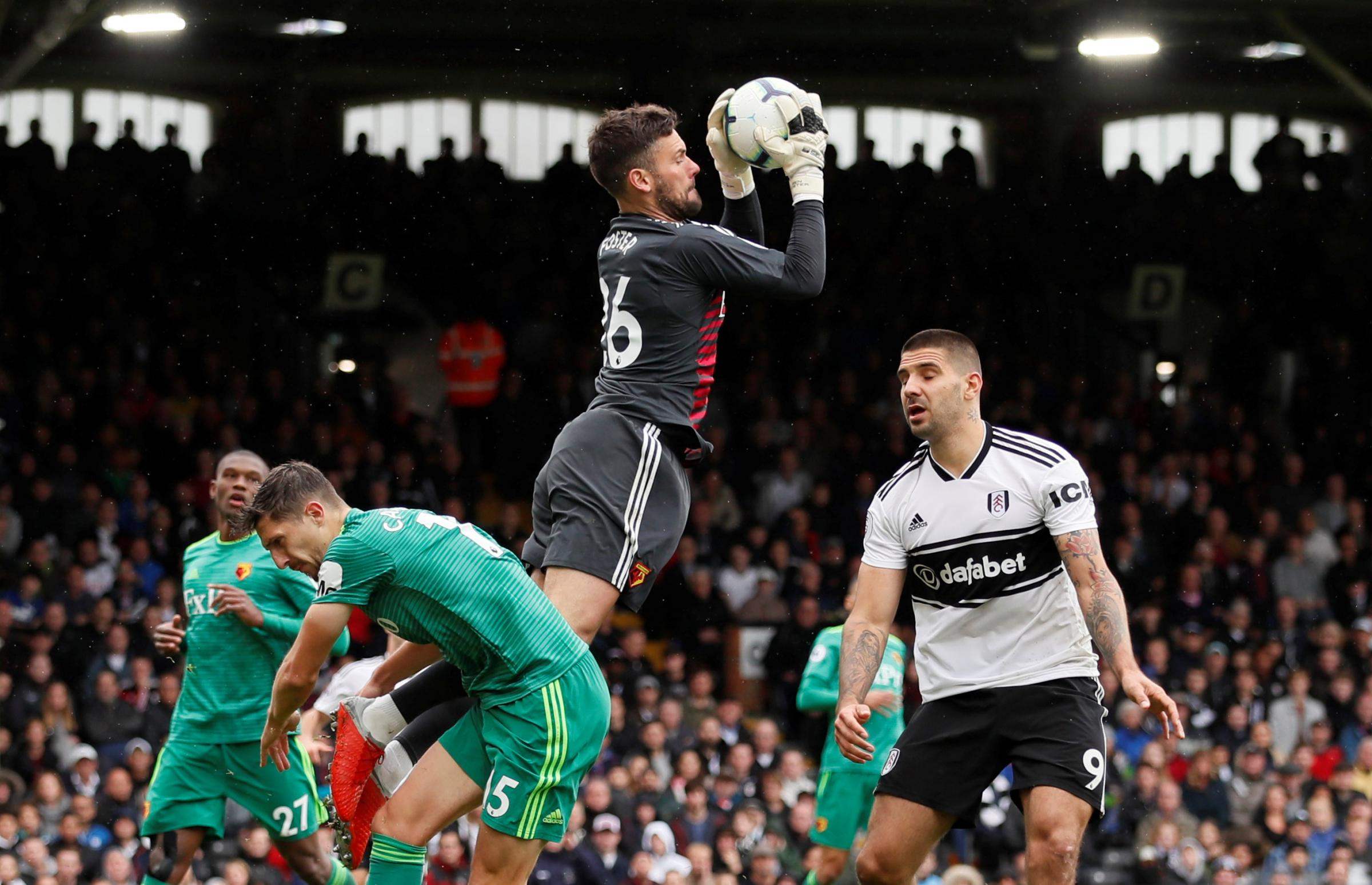 Ben Foster claims a cross during Saturday's match. Picture: Action Images