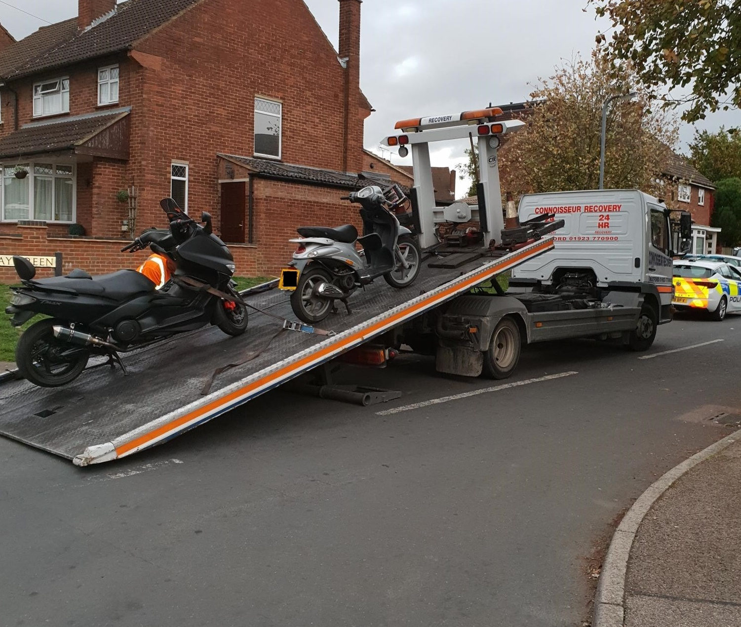 The bikes were traced to an address in Abbots Langley where they were seized by police on Tuesday
