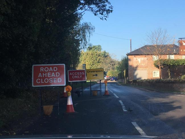 Redhall Lane remains closed