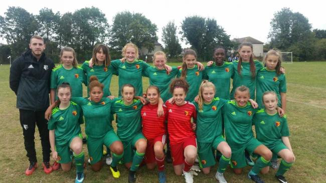 The Under-14s netted a dozen without reply against Hitchin Belles Blues