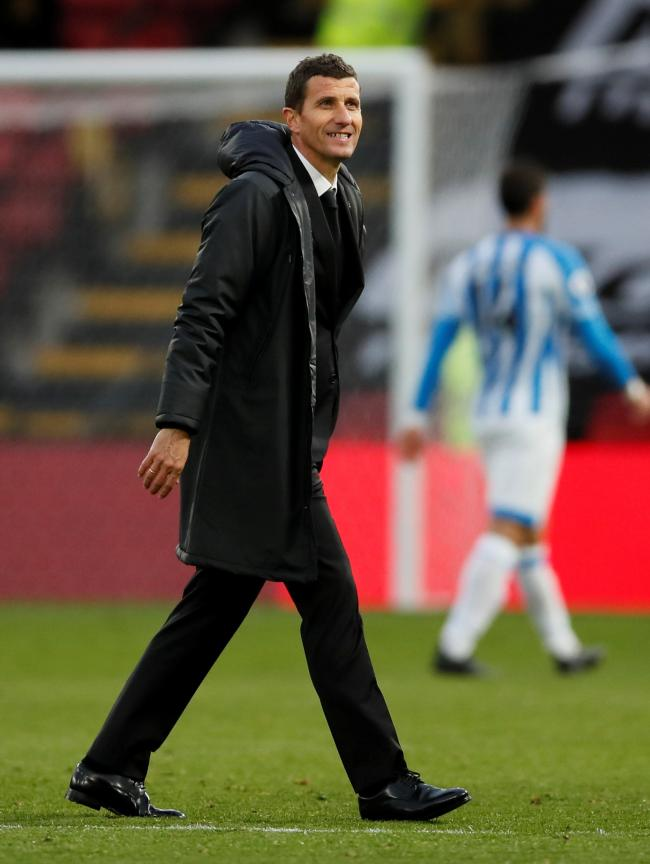 A smiling Javi Gracia at full-time. Picture: Action Images