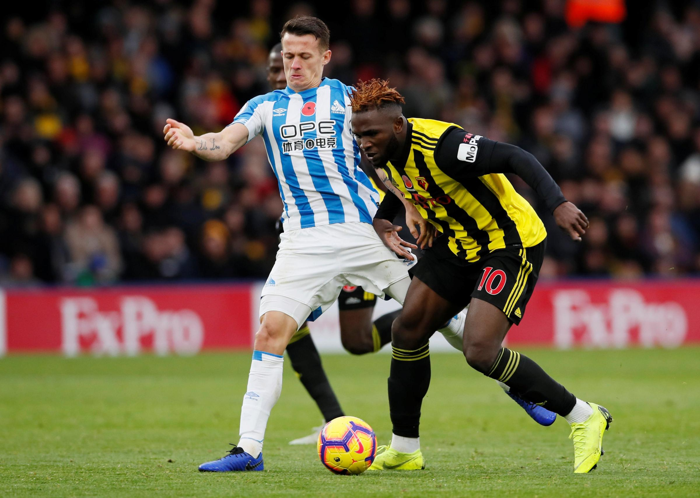 Isaac Success was impressive against Huddersfield Town on Saturday. Picture: Action Images