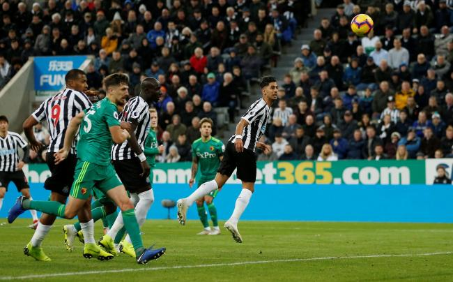Ayoze Perez flicks home the winner at St James' Park. Picture: Action Images