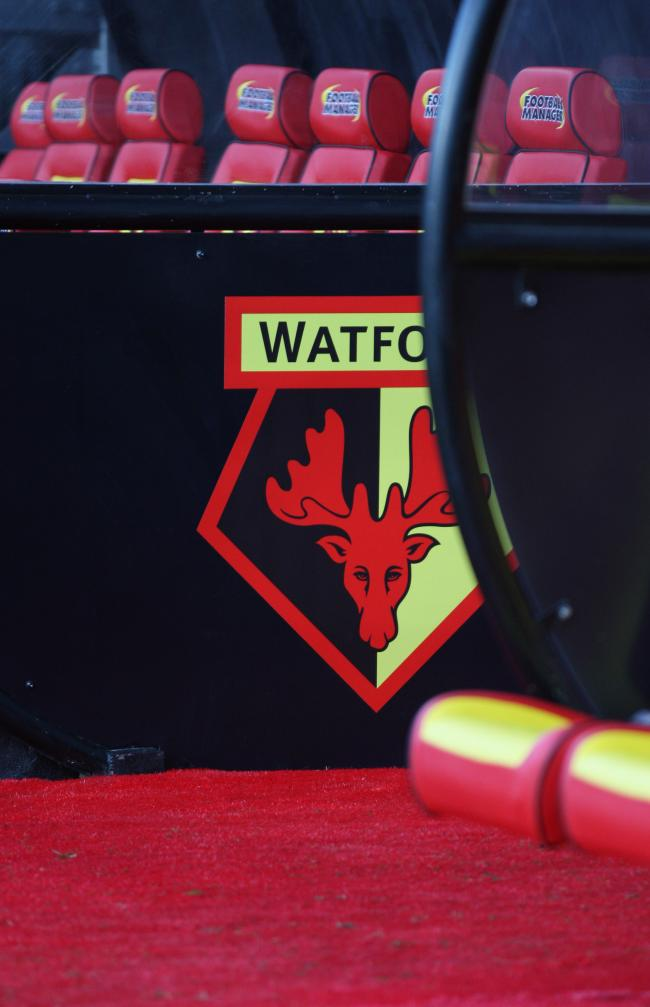 Watford are looking to open a discussion about a potential change of club  crest. Picture dab48a92a