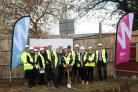 The ground-breaking ceremony at Park Mead