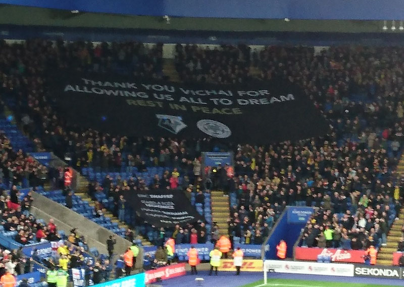 The banners were displayed prior to kick off.