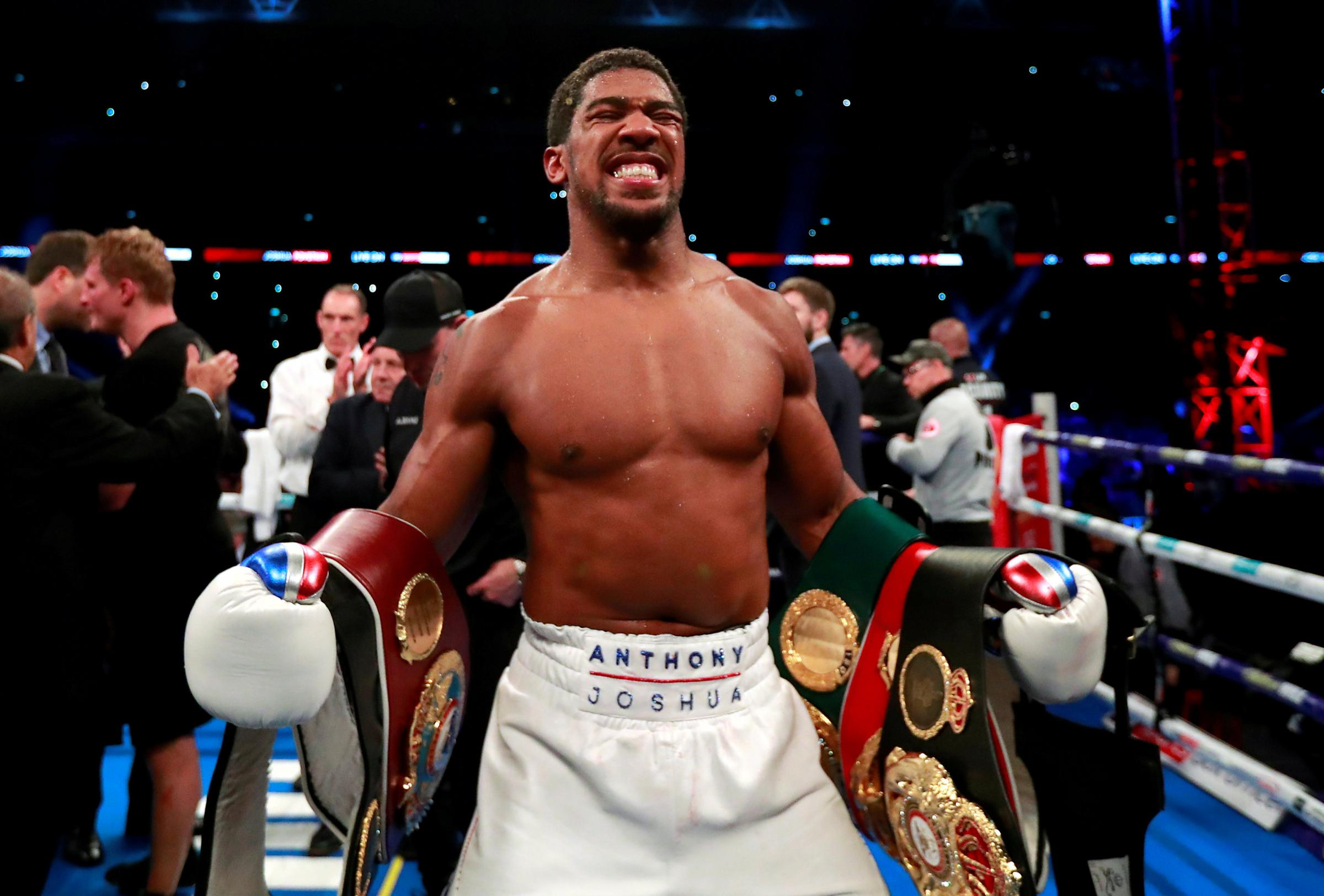 Anthony Joshua says he is ready to face Tyson Fury or Deontay Wilder. Picture: Action Images