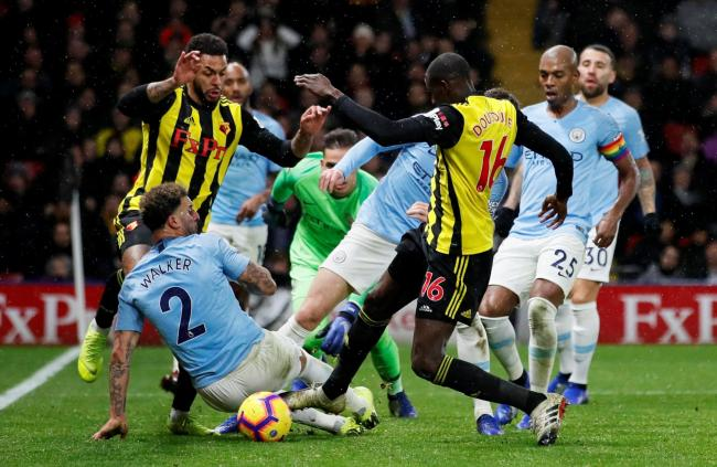 Abdoulaye Doucoure gives the Hornets hope. Picture: Action Images