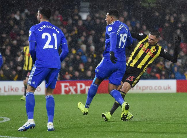 Jose Holebas curls in his third goal of the season. Picture: Action Images