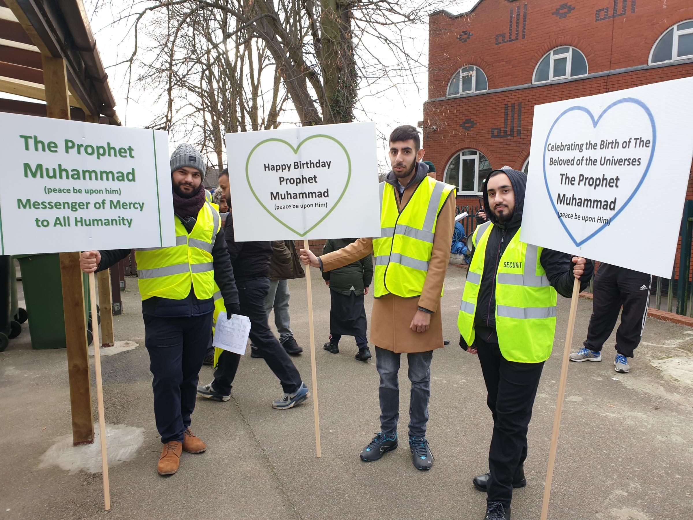 Around 500 people marched through the streets of Watford