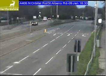 This is the scene of the A405 past the incident