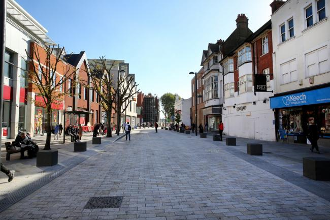 The state of the High Street has earned the town a shortlist for an excellance award