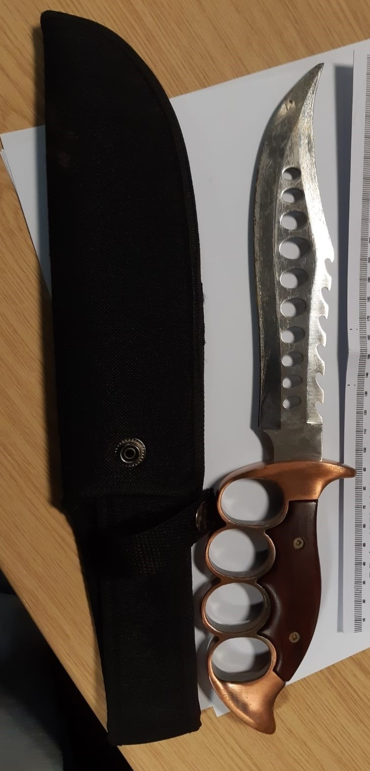 This knife is now in the safe hands of the police after being discovered in South Oxhey. Picture: Herts Police