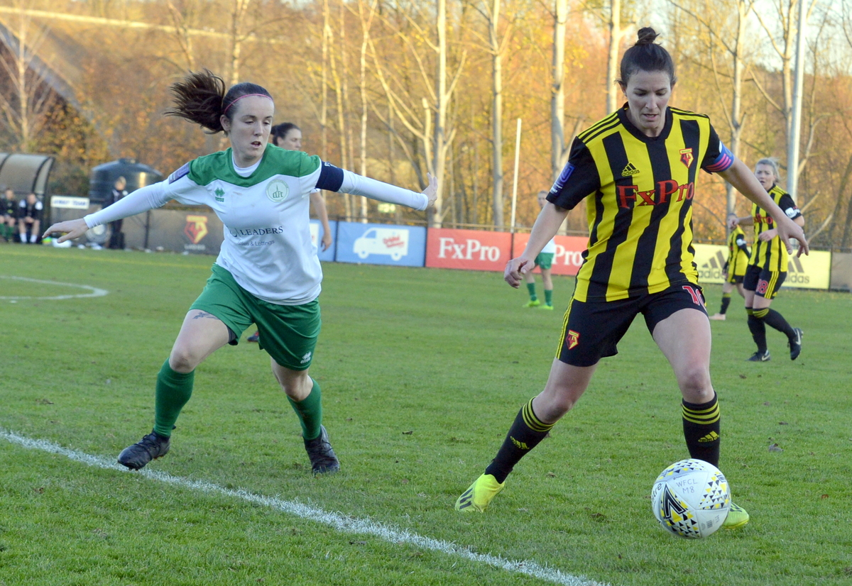 Watford's Helen Ward has been named player of the round in the FA Cup. Picture:  Len Kerswill