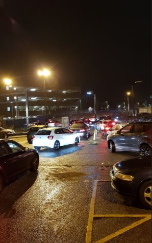Traffic queueing to leave Watford Junction on Tuesday. Credit: Twitter/@YvonneWaller