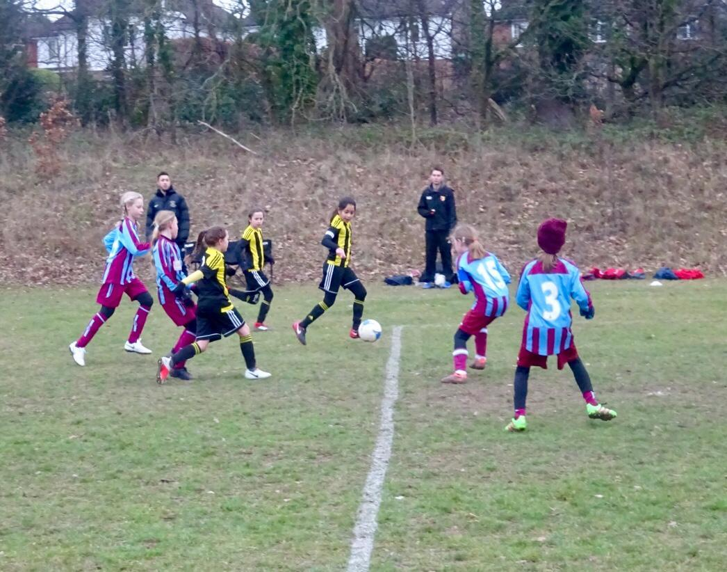 Watford Under-10s in action on Saturday.