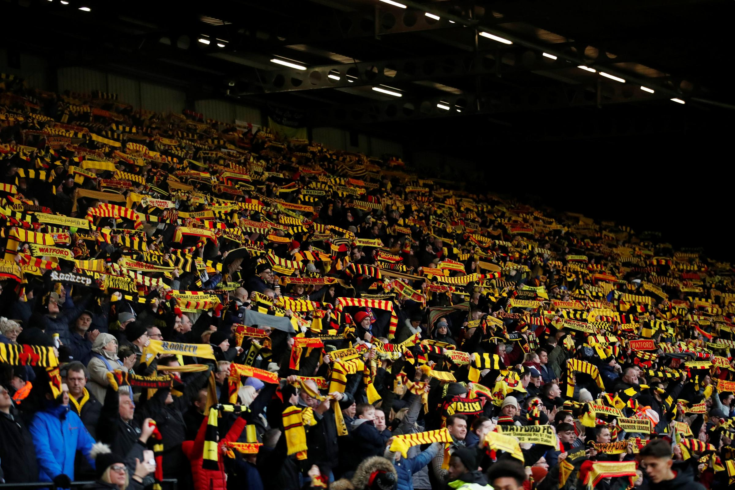 Watford fans to honour Graham Taylor with a 'sea of scarves' before Tottenham Hotspur match