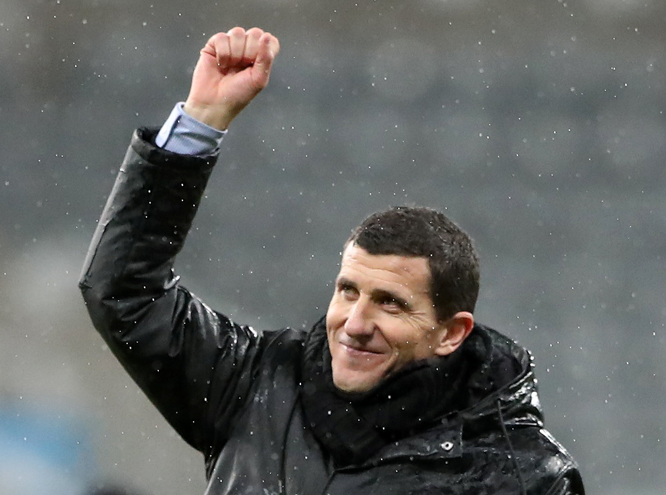 Javi Gracia celebrating Watford's FA Cup fourth round success at Newcastle United. Picture: Action Images