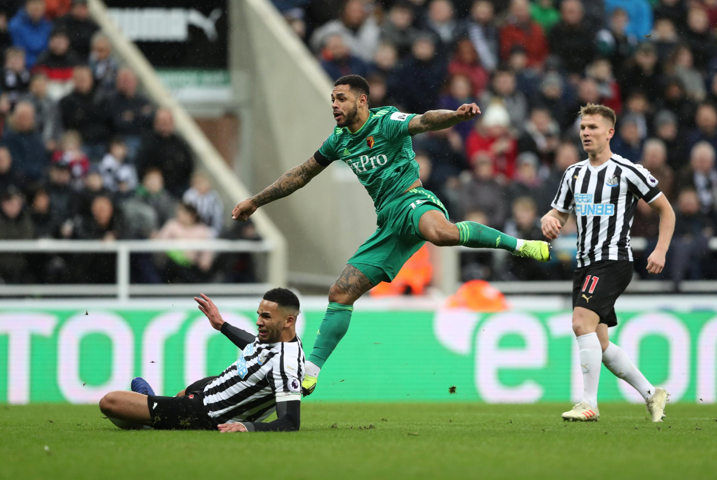 Andre Gray returned with a goal against Newcastle. Picture: Action Images
