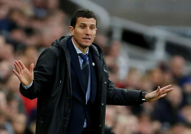 Javi Gracia was happy for all his players after Newcastle victory. Picture: Action Images