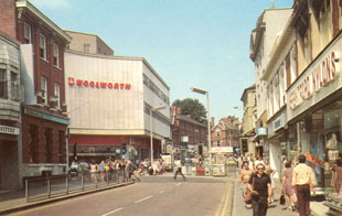 Watford Observer: Woolworths in 1981 at the site on the corner of High Street and King Street.