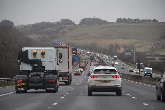 Broken down vehicles reported on the M25 this morning