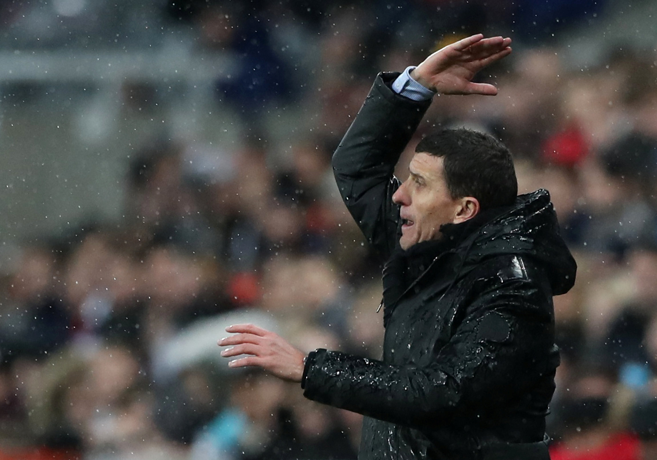 Javi Gracia is only too aware of the number of big chances his side have missed. Picture: Action Images