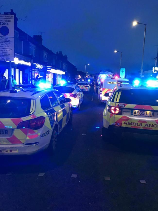Four arrested after violence in Vicarage Road
