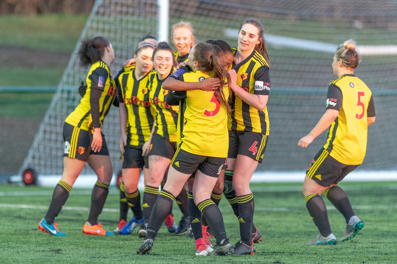 The Golden Girls celebrate a remarkable victory. Picture: AW Images
