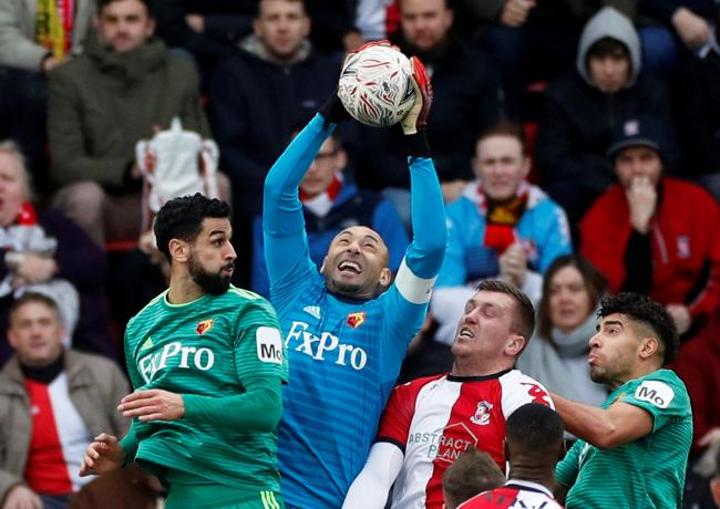 Heurelho Gomes in FA Cup action against Woking. Picture: Action Images