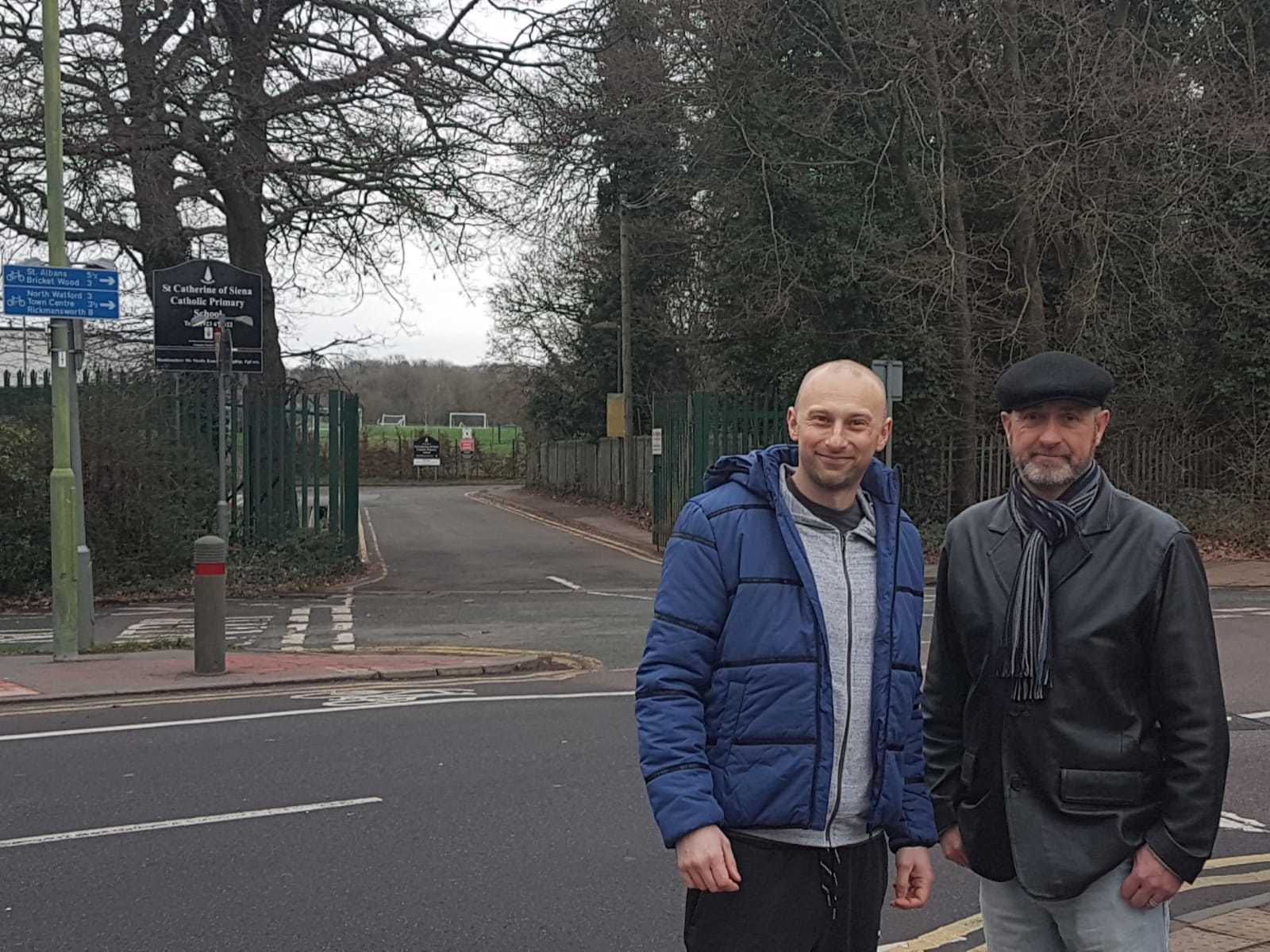 Richard Wenham (left) pictured with Cllr Williams in Horseshoe Lane