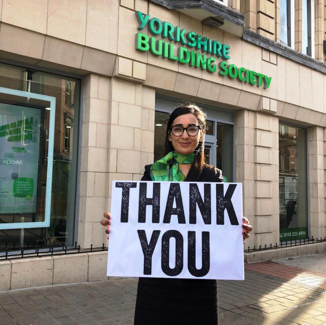 The Yorkshire Building Society has thanked Watford customers