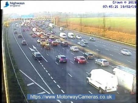 Traffic slowing near j17 for Rickmansworth on the M25 Photo: Highways England