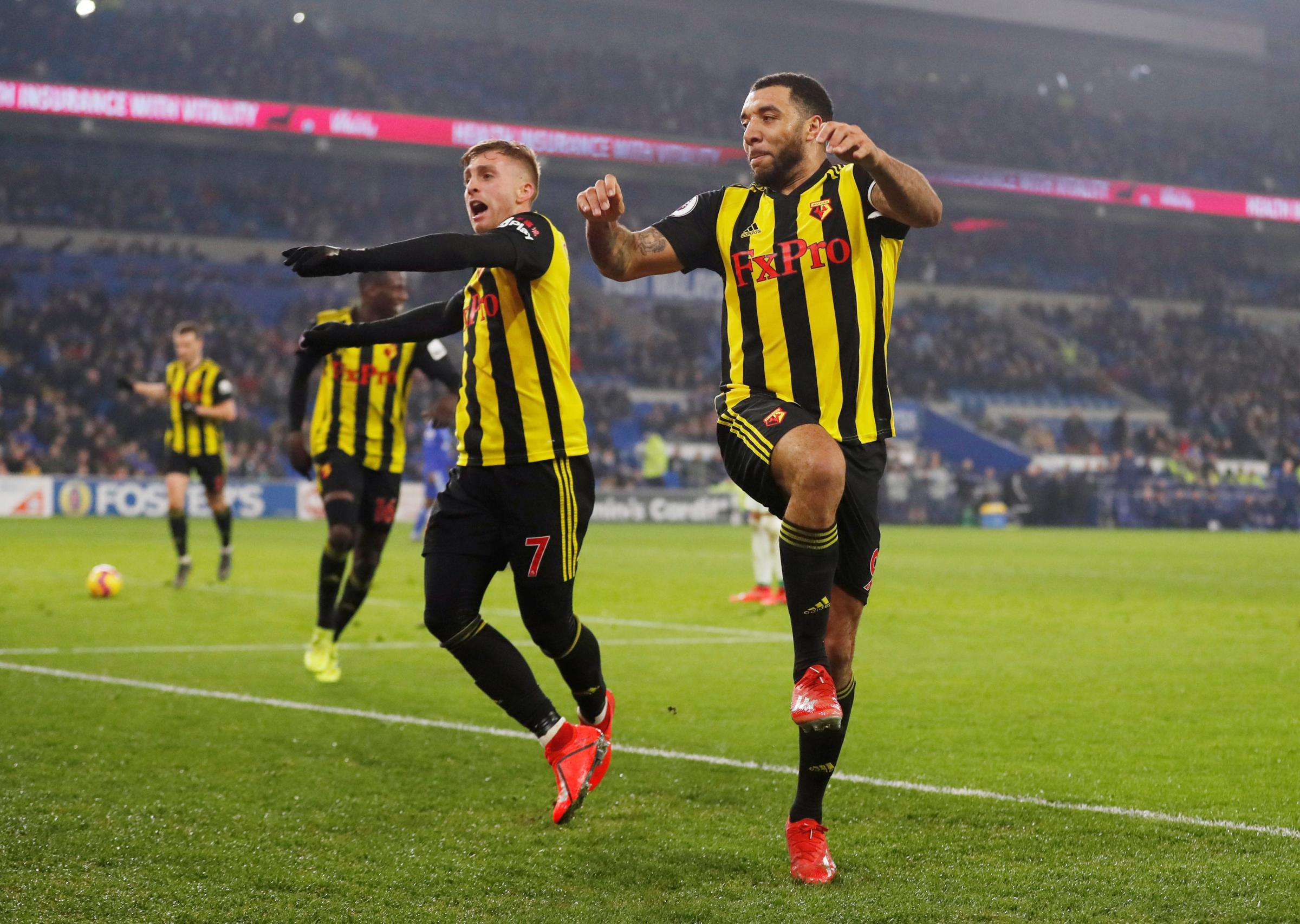 Deulofeu and Deeney demolish Cardiff. Picture: Action Images