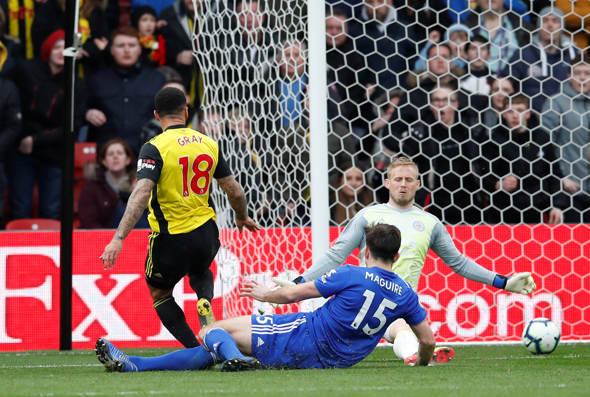 Andre Gray nets Watford's winner. Picture: Action Images