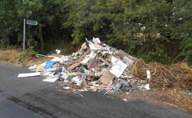 Fly-tipping near Borehamwood